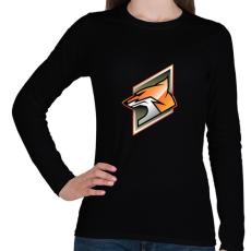PRINTFASHION Fox - Női hosszú ujjú póló - Fekete