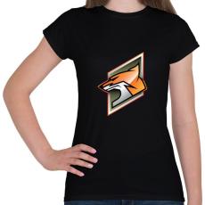 PRINTFASHION Fox - Női póló - Fekete