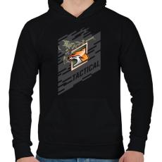 PRINTFASHION Fox Special - Férfi kapucnis pulóver - Fekete