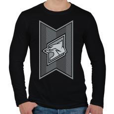 PRINTFASHION Fox Stripes - Férfi hosszú ujjú póló - Fekete