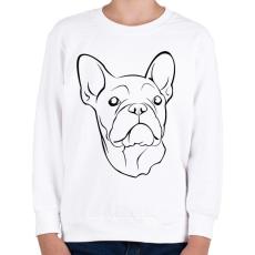 PRINTFASHION Francia bulldog - Gyerek pulóver - Fehér