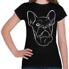 PRINTFASHION Francia bulldog - Női póló - Fekete