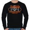 PRINTFASHION Freestyle gördeszkás - Férfi pulóver - Fekete