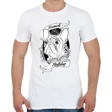 PRINTFASHION french bulldog - Férfi póló - Fehér