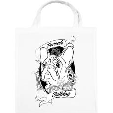 PRINTFASHION french bulldog - Vászontáska - Fehér