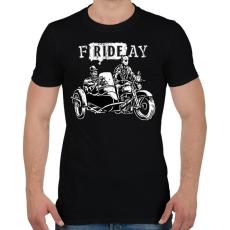 PRINTFASHION fRIDEay  - Férfi póló - Fekete