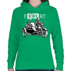 PRINTFASHION fRIDEay  - Női kapucnis pulóver - Zöld