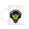 PRINTFASHION Funky majom - Bögre - Fehér