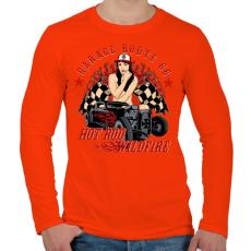PRINTFASHION Futótűz - Férfi hosszú ujjú póló - Narancs