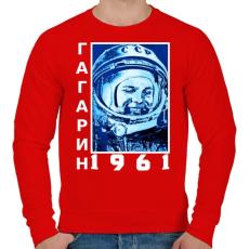 PRINTFASHION Gagarin 1961 Cirill - Férfi pulóver - Piros