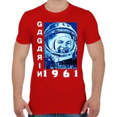 PRINTFASHION Gagarin 1961 - Férfi póló - Piros