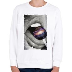 PRINTFASHION Galaktikus íz - Gyerek pulóver - Fehér
