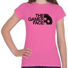 PRINTFASHION Gamer Face - Női póló - Rózsaszín