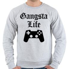 PRINTFASHION Gangsta Life - Férfi pulóver - Sport szürke