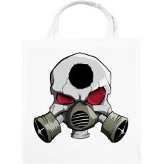 PRINTFASHION Gasmask skull - Vászontáska - Fehér