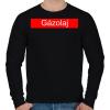 PRINTFASHION Gázolaj - Férfi pulóver - Fekete
