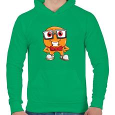 PRINTFASHION Geek - Férfi kapucnis pulóver - Zöld
