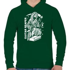 PRINTFASHION Gitáros halál - Férfi kapucnis pulóver - Sötétzöld