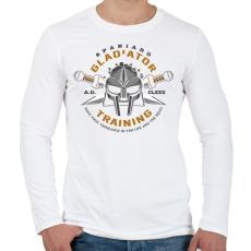 8b32091e90 PRINTFASHION Gladiator Training - Férfi hosszú ujjú póló - Fehér