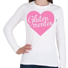 PRINTFASHION gluten-free-love-pink - Női hosszú ujjú póló - Fehér