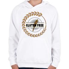 PRINTFASHION Glutenfree1 - Gyerek kapucnis pulóver - Fehér