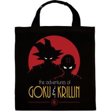 PRINTFASHION Goku és Krillin - Vászontáska - Fekete