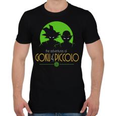 PRINTFASHION Goku és Piccolo - Férfi póló - Fekete