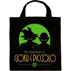 PRINTFASHION Goku és Piccolo - Vászontáska - Fekete