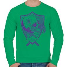 PRINTFASHION Gonosz sportgép - Férfi pulóver - Zöld