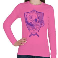 PRINTFASHION Gonosz sportgép - Női hosszú ujjú póló - Rózsaszín