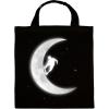 PRINTFASHION Gördeszkás a holdon - Vászontáska - Fekete
