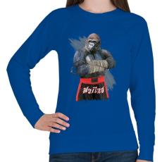 PRINTFASHION Gorilla thai box - Női pulóver - Királykék