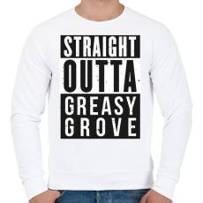 PRINTFASHION Greasy Grove - Férfi pulóver - Fehér