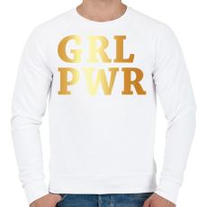 PRINTFASHION GRL PWR - Férfi pulóver - Fehér