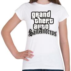 PRINTFASHION GTA  - Női póló - Fehér