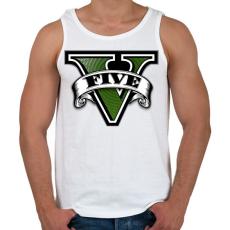 PRINTFASHION GTA V logo - Férfi atléta - Fehér