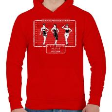 PRINTFASHION Gyanús - Férfi kapucnis pulóver - Piros