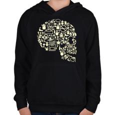 PRINTFASHION Gyilkos füst - Gyerek kapucnis pulóver - Fekete
