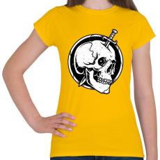 PRINTFASHION Gyilkosság - Női póló - Sárga