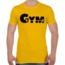 PRINTFASHION GYM - Férfi póló - Sárga