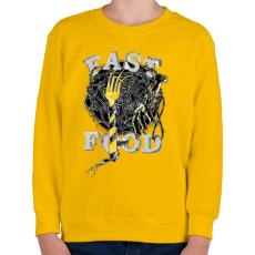 PRINTFASHION Gyorskaja - Gyerek pulóver - Sárga