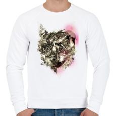PRINTFASHION Gyűlölt gépezet - Férfi pulóver - Fehér