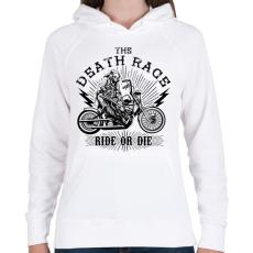 PRINTFASHION Halálfutam - Női kapucnis pulóver - Fehér