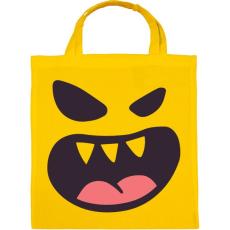 PRINTFASHION Halloween arc - Vászontáska - Sárga