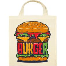 PRINTFASHION Hamburger - Vászontáska - Natúr
