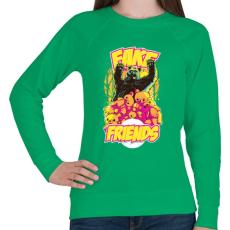 PRINTFASHION Hamis barát - Női pulóver - Zöld