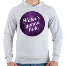 PRINTFASHION Hate - Férfi kapucnis pulóver - Sport szürke