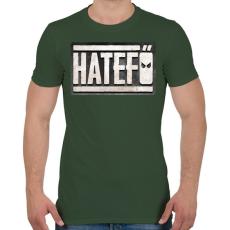 PRINTFASHION Hatefő - Férfi póló - Katonazöld