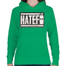 PRINTFASHION Hatefő - Női kapucnis pulóver - Zöld
