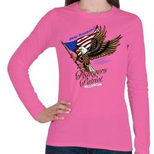 PRINTFASHION Hazafi - Női hosszú ujjú póló - Rózsaszín női póló